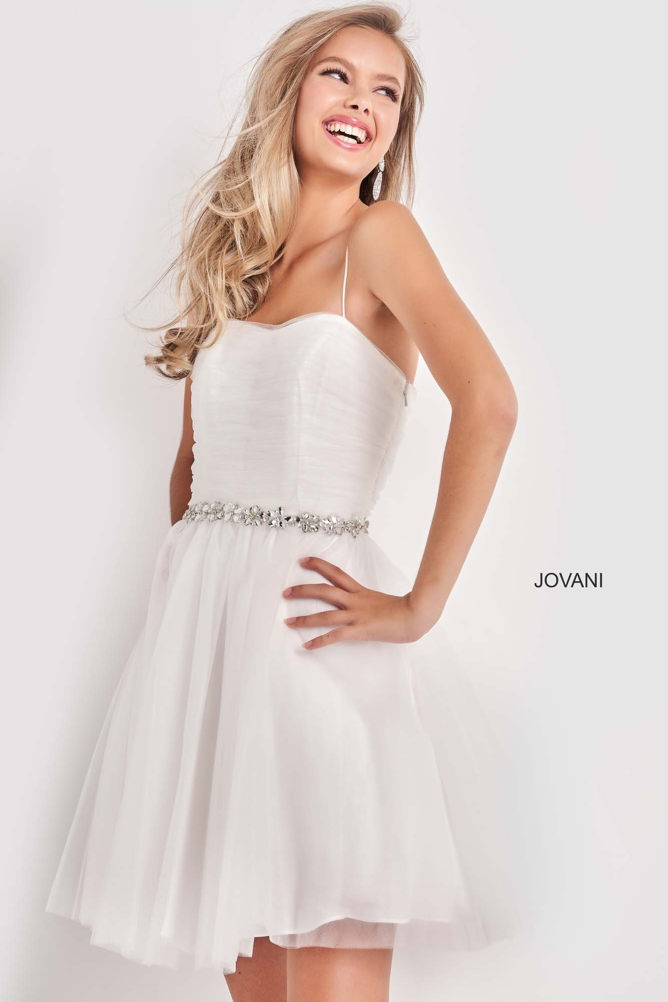 Jovani K4761 Spaghetti Strap Short Girls Dress