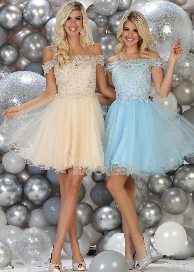 Off the Shoulder Lace Party Dress