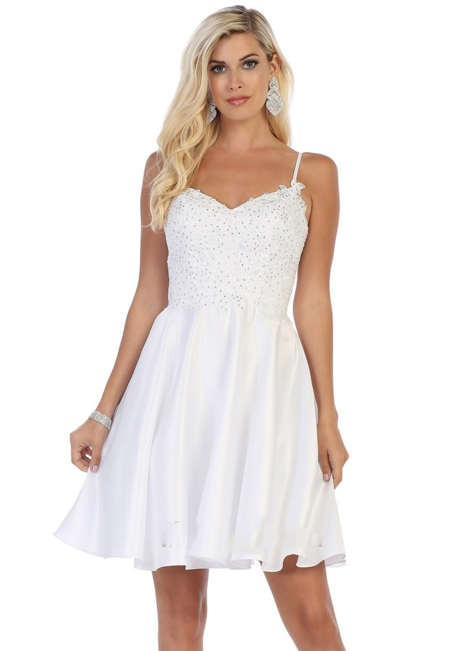 Jeweled Lace Party Dress