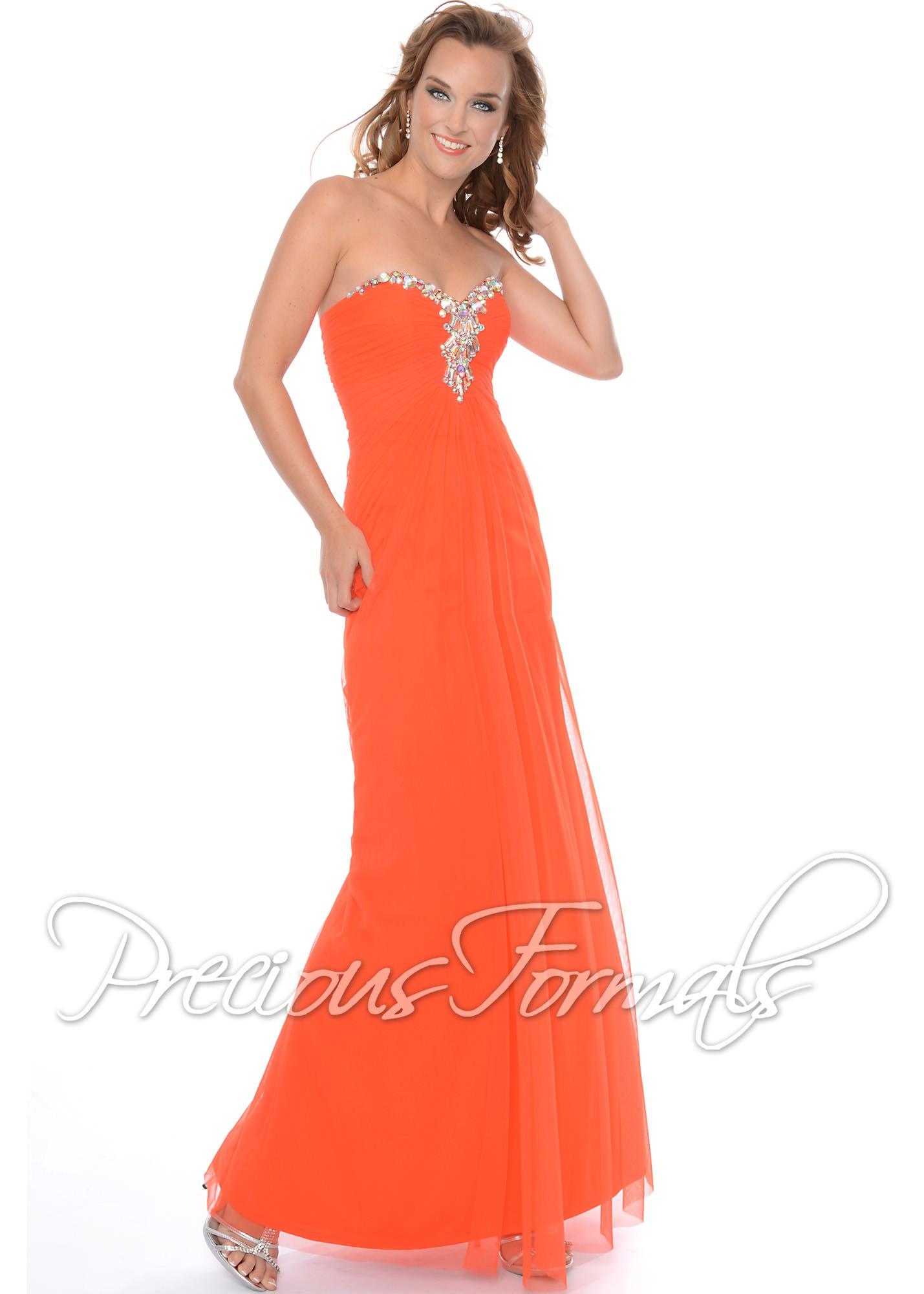 Precious Formals P21011 Strapless Illusion Dress