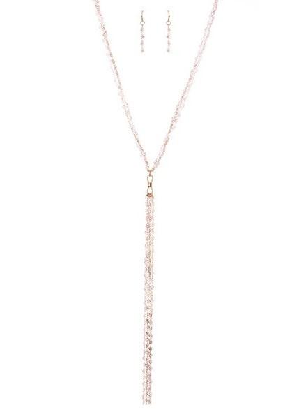 Boho Chic Multi Layered Metal Long Necklace Set