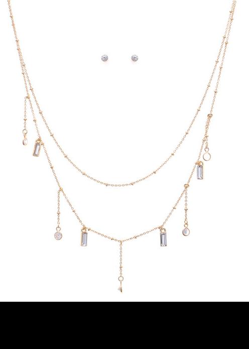 Lightweight Stone Pendant Necklace