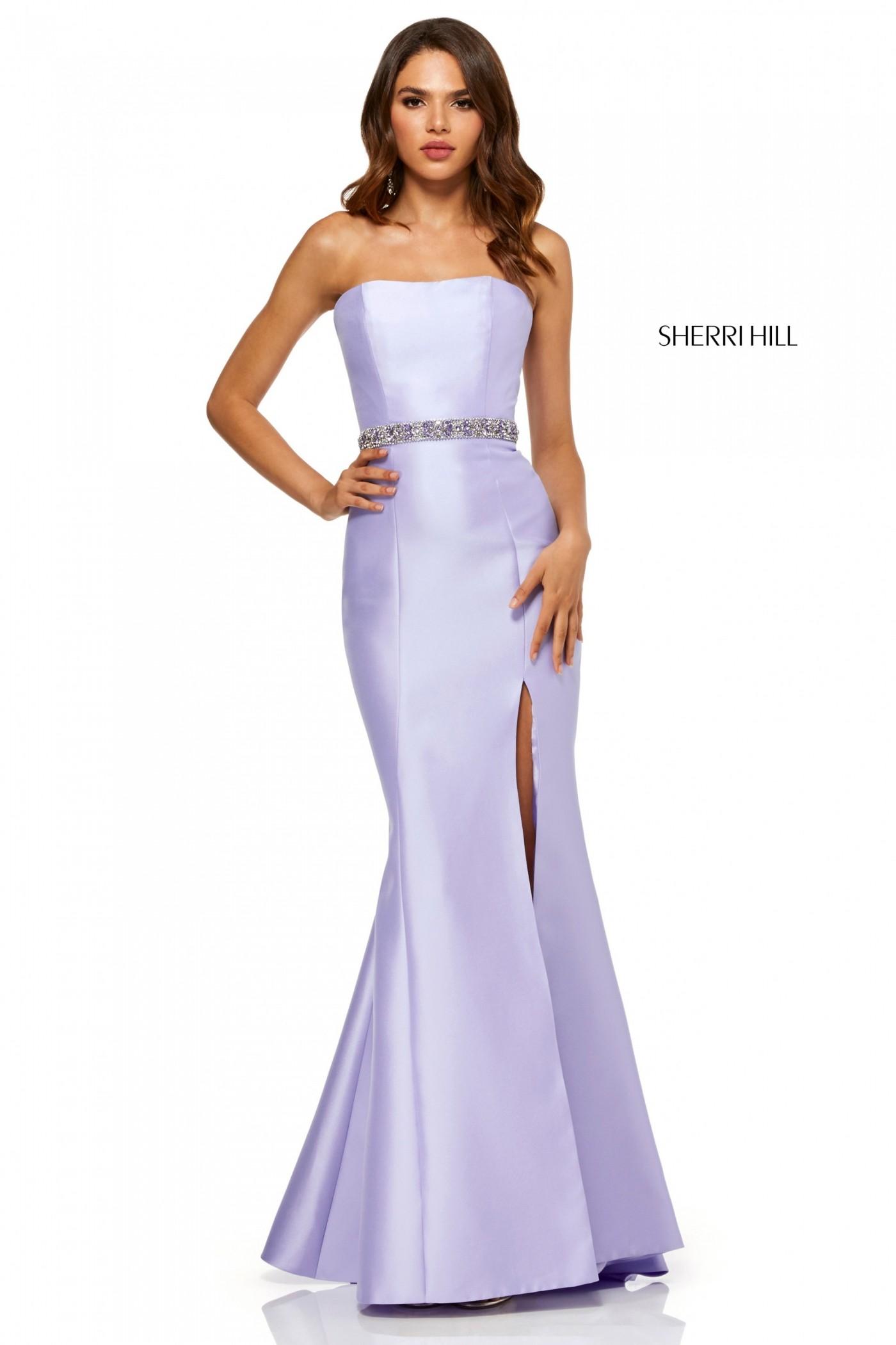 Sherri Hill 52541 Strapless Evening Gown