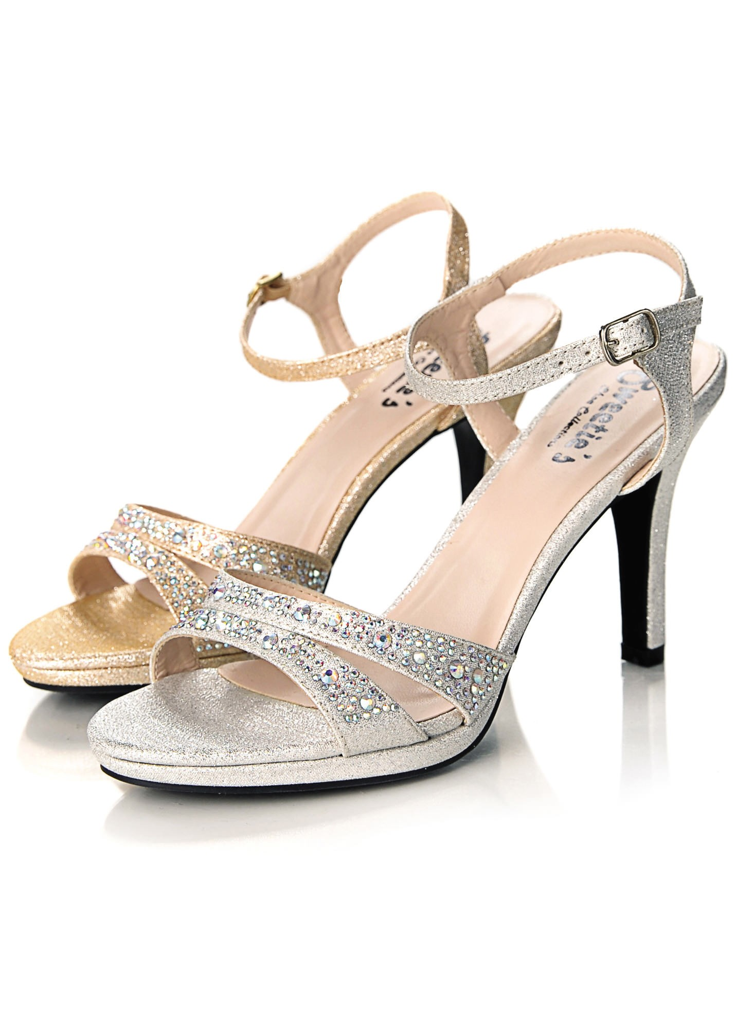 Sweetie's Sylvia Jeweled Peep Toe Shoes