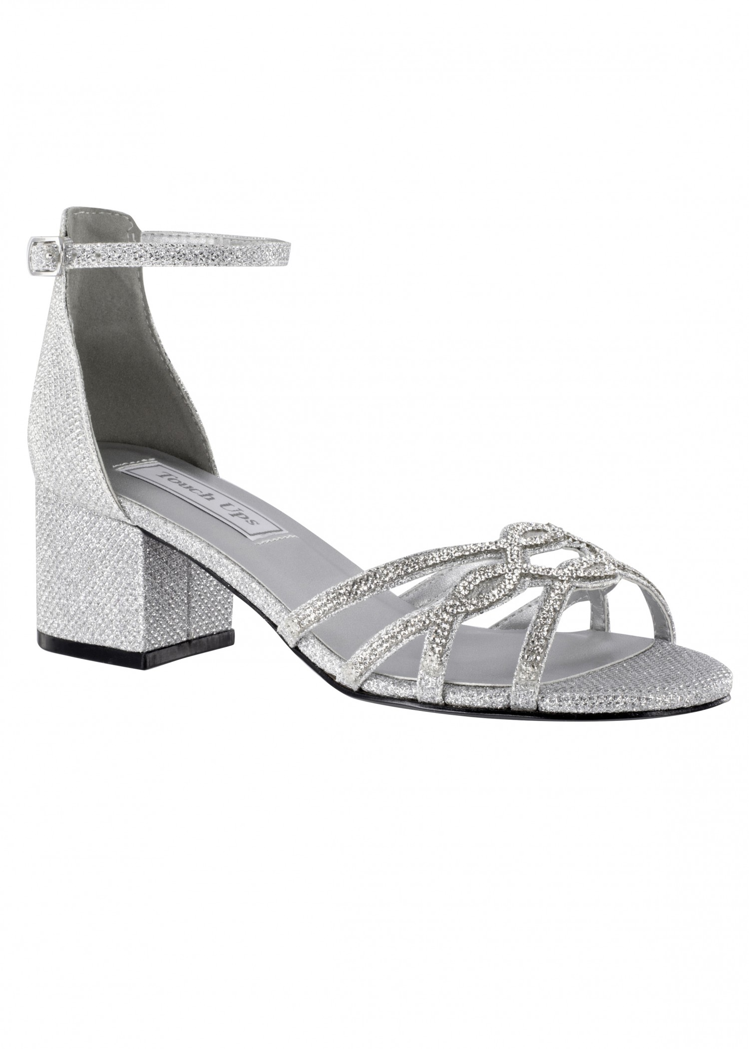 Zoey by Touch Ups Sparkling Block Heel Sandal