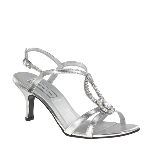 a8d3ca8367a Touch Ups Mindy 440 - Silver Strappy Jeweled Shoes - RissyRoos.com
