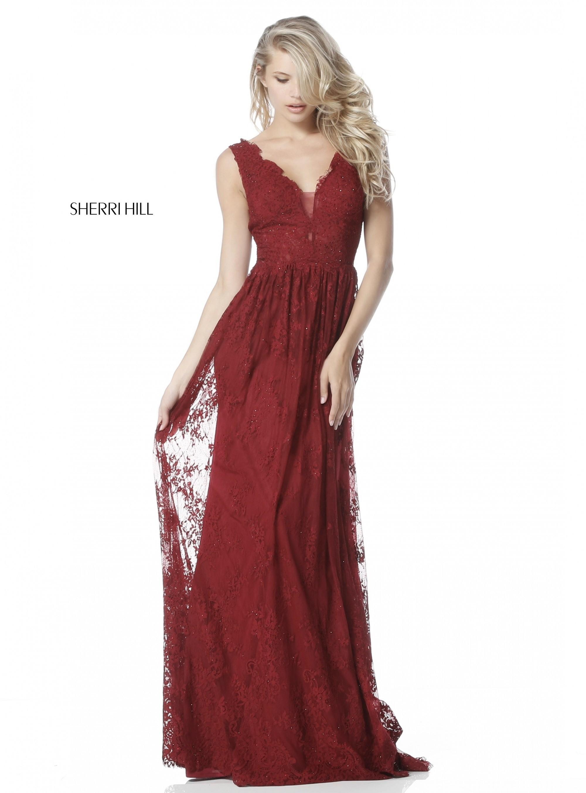 Sherri Hill 51562 Elegant Lace Evening Gown Rissyroos Com
