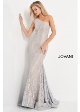 Jovani 00353 One Shoulder Lace Prom Dress