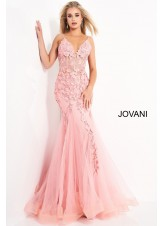 Jovani 02841 Floral Mermaid Dress