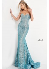 Jovani 06586 Strapless Lace Prom Dress