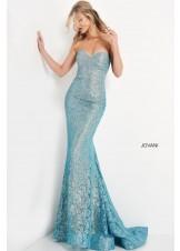 Jovani 06586 Strapless Lace Prom Dress
