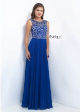 Intrigue 152 Unique Fully Beaded Bodice Prom Dress