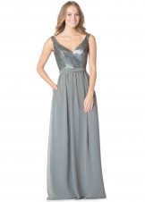 Bari Jay 1613 Elegant Sequin & Chiffon Bridesmaid Dress