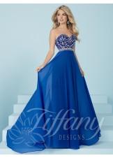 Tiffany Designs 16221 Beaded Strapless Sweetheart Dress