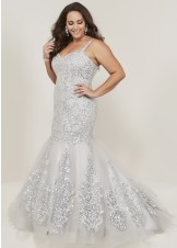 Tiffany Designs 16378 Sequin Lace Mermaid Gown