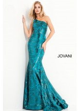 Jovani 1845 Sleek One Shoulder Gown