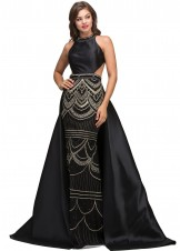 Lucci Lu 2139 Black Long Dress