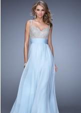 La Femme 21505 Powder Blue Dress