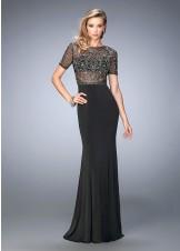 Gigi 22647 Beaded Sheer Evening Gown