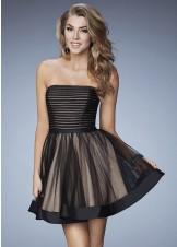 La Femme 23354 Charming Strapless Cocktail Dress