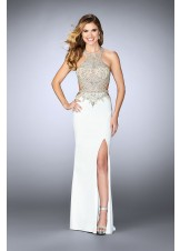 Gigi 23852 Glam Jeweled Illusion Jersey Gown