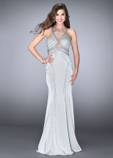 Gigi 24557 Glamorous Jeweled Jersey Gown with Cutouts