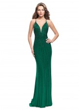 Gigi 26300 Elegantly Jeweled Fitted Evening Gown