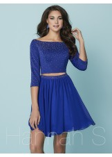 Hannah S. 27163 Two Piece 3/4 Length Sleeve Dress