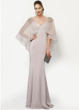 Alyce 27170 Glamorous Evening Gown with Sheer Cape