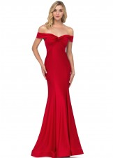 Lucci Lu 28032 Off the Shoulder Evening Gown