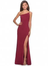 La Femme 28176 One Shoulder Dress