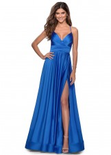 La Femme 28571 Royal Blue Evening Dress