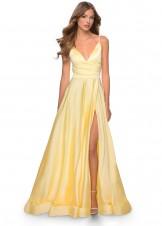 La Femme 28607 Satin A-line Gown