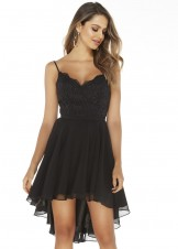 Alyce 3045 Black Hi-Lo Evening Dress