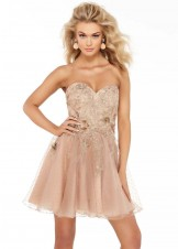 Alyce 3060 Strapless Latte Party Dress