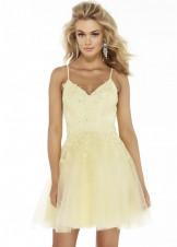 Alyce 3066 V-Neck Lace Embellished Party Dress
