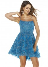 Alyce 3069 Ocean Blue Hi-Lo Dress