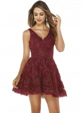 Alyce 3071 V-Neck Lace Party Dress