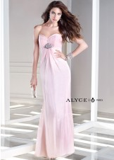 Alyce B'Dazzle 35709 Elegant Strapless Chiffon Dress Website Special
