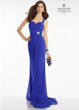 Alyce B'Dazzle 35804 Fitted Open Back Evening Gown