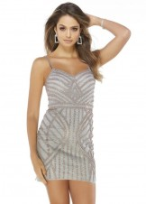 Alyce 4242 Stone Embroidered Mini Dress