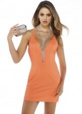 Alyce 4290 Short Plunge Neck Glitter Dress