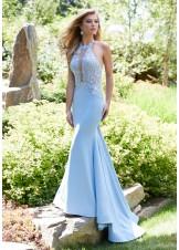 Mori Lee 43014 Sleek Lace Jersey Mermaid Dress