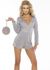 Alyce 4338 Long Sleeve Sequin Romper