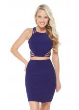 Alyce 4470 Strappy Two-Piece Short Dress