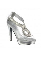 Serena by Touch Ups Clear Jeweled Shoes