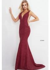 Jovani 45811 Plunge Neck Glitter Gown