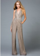 Scala 48941 Wide-Leg Beaded Jumpsuit