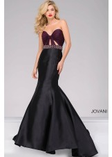 Jovani 50922 Edgy Strapless Mermaid Gown