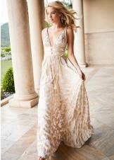 Sherri Hill 52474 Metallic Print Chiffon Dress